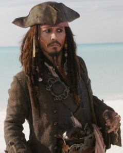 Johnny Depp as Jack Sparrow in PIRATES 3