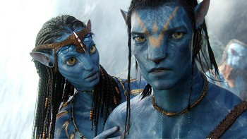 Neytiri and Jake in James Cameron's AVATAR