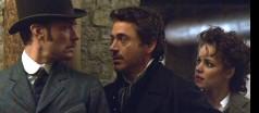 Jude Law, Robert Downey Jr. and Rachel McAdams in SHERLOCK HOLMES