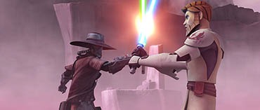 Bounty hunter Cad Bane clashes with Obi-Wan Kenobi in 'Hunt for Ziro,' an all-new episode of STAR WARS: THE CLONE WARS premiering at 9:00 p.m. ET/PT Friday, November 12 on Cartoon Network. TM & © 2010 Lucasfilm Ltd. All rights reserved.
