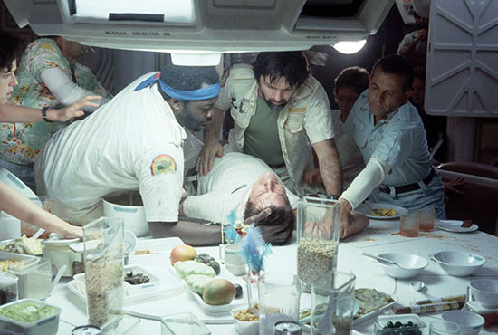 The Nostromo crew is about to discover a gruesome surprise in ALIEN. Photo © Fox Home Entertainment. Used with permission. All rights reserved.