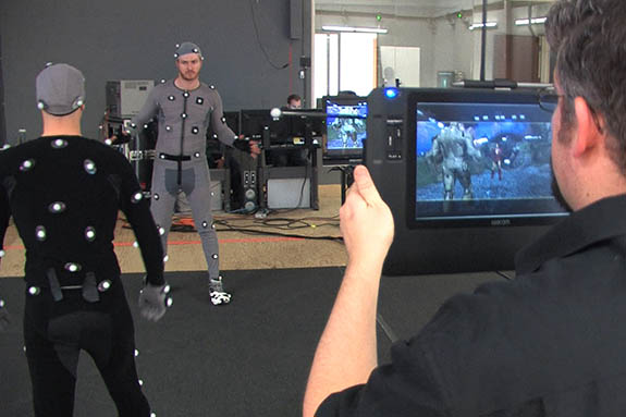 ILM effects wizards film motion capture action from IRON MAN 2