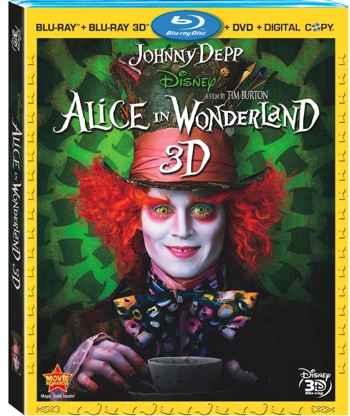 ALICE IN WONDERLAND 4-disc Blu-ray 3D set available December 7, 2010