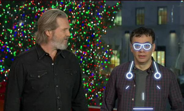 Host Jeff Bridges joins SNL's Fred Armisen on SNL this Saturday