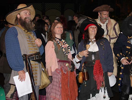 Plenty of fans came in costume to Disney's exclusive Fans First PIRATES 4 3D Trailer Debut event