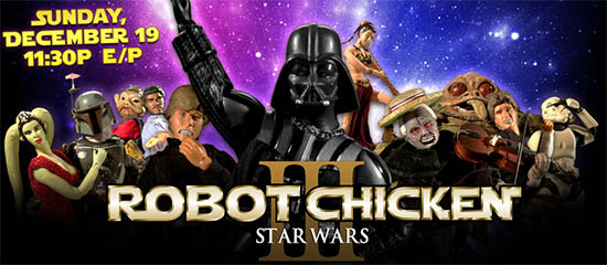 FilmEdge reviews ROBOT CHICKEN: STAR WARS III on Adult Swim