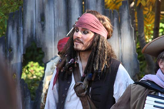 Jack is back at the exclusive PIRATES 4 3D Trailer Debut event at Disneyland