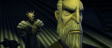 Count Dooku and his monstrous new Sith apprentice Savage Opress on this week's new episode of STAR WARS: THE CLONE WARS