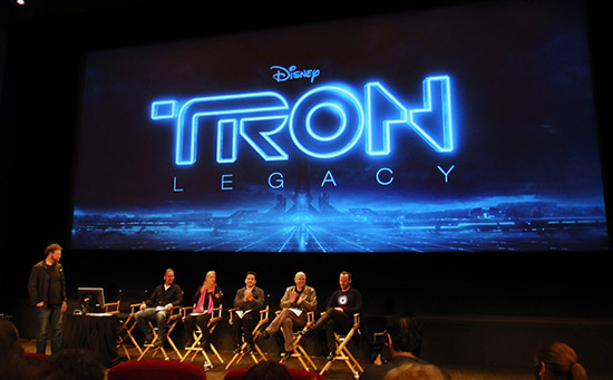 TRON:LEGACY The Sound Show panel at Walt Disney Studios hosted by the Motion Picture Editors Guild. Photo c. Erik C. Andersen.