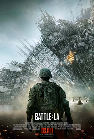 Click to view the new hi-res BATTLE: LOS ANGELES one-sheet poster design