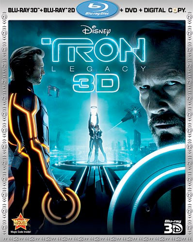 TRON:LEGACY Four-Disc Combo Pack (Blu-ray 3D, Blu-ray, DVD/Digital Copy)