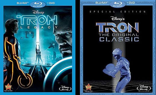 TRON:LEGACY 2-Disc Blu-ray and TRON Original Classic Special Edition Blu-ray