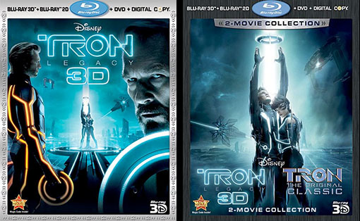 TRON:LEGACY 4-Disc Blu-ray edition and TRON:LEGACY/TRON 2-Movie Collection