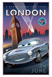 Click to download the CARS 2 World Grand Prix London poster