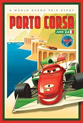 Click to download the CARS 2 World Grand Prix Porto Corsa poster