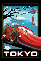 Click to download the CARS 2 World Grand Prix Tokyo poster