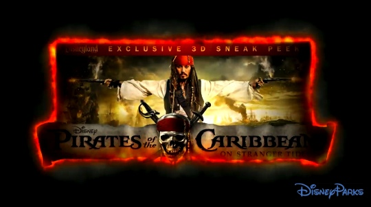DisneyParks Blog video of the PIRATES OF THE CARIBBEAN: ON STRANGER TIDES 3D preview at Disneyland
