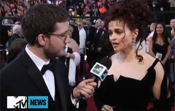 Helena Bonham Carter talks DARK SHADOWS at the Oscars