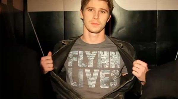 "Sam Flynn (Garrett Hedlund) insists Flynn Lives in this TRON ""The Next Day"" video clip"
