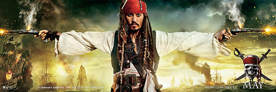 Download the new PIRATES OF THE CARIBBEAN: ON STRANGER TIDES banner poster