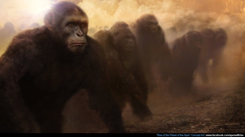 Concept art from RISE OF THE PLANET OF THE APES. TM & Copyright Twentieth Century Fox and its related entities. All rights reserved.