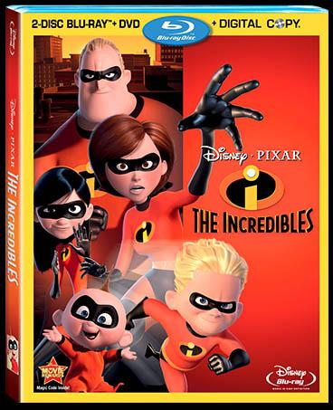FilmEdge reviews Disney/Pixar's superhero hit THE INCREDIBLES on 4-disc Blu-ray/DVD Combo Pack