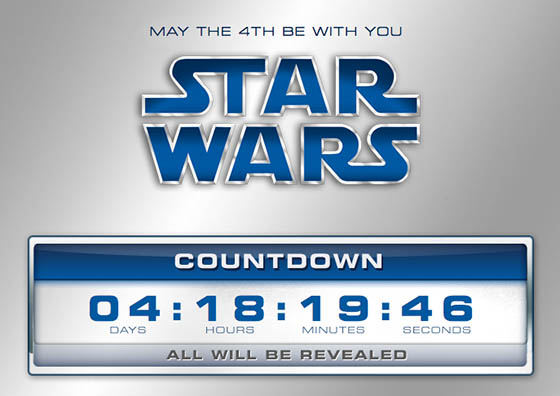 StarWars.com counts down to revealing the Complete Saga Blu-ray box set details on May 4th