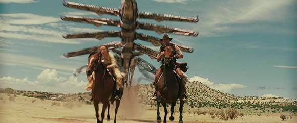Olivia Wilde and Daniel Craig under attack in Jon Favreau's COWBOYS & ALIENS