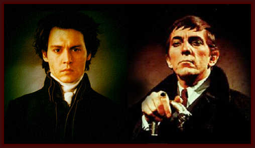 Johnny Depp assumes the cloak of Barnabas Collins from Jonathan Frid in DARK SHADOWS