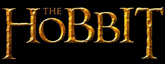 Early official title art for Peter Jackson's two-part film series adapting J.R.R. Tolkien's THE HOBBIT