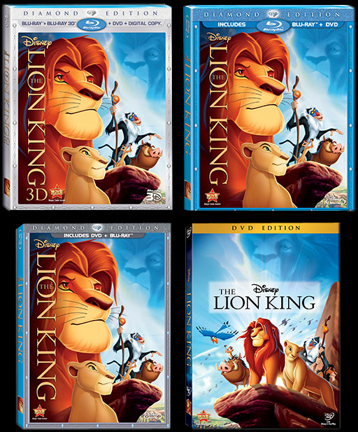 Disney Debuts The Lion King On Blu Ray In 3d Eight Disc Diamond Edition October 4th Filmedge Net Blog