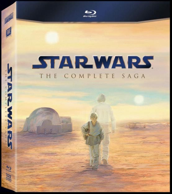 STAR WARS: THE COMPLETE SAGA Blu-ray box art. Copyright and TM 2011 Lucasfilm Ltd. and Fox. All rights reserved.