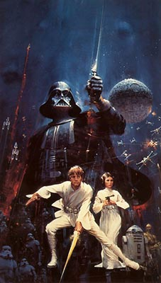 John Berkey's original art for the STAR WARS novelization paperback in 1977
