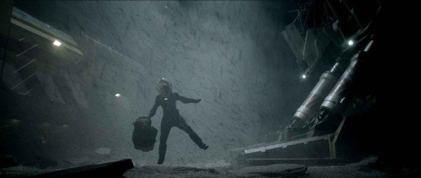 An astronaut crew member battles the elements in this first official photo from Ridley Scott's PROMETHEUS