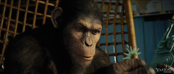 A subtle franchise callback moment from an extended film clip from RISE OF THE PLANET OF THE APES