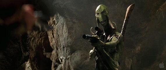 One of the mysterious inhabitants of Barsoom (Mars) in Disney's JOHN CARTER