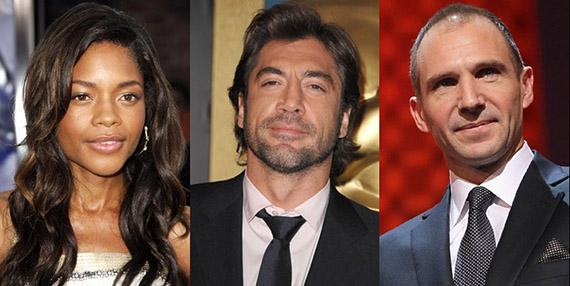 Potential BOND 23 castmates Naomie Harris, Javier Bardem and Ralph Fiennes