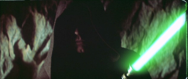 Luke builds a new lightsaber in a deleted scene from RETURN OF THE JEDI