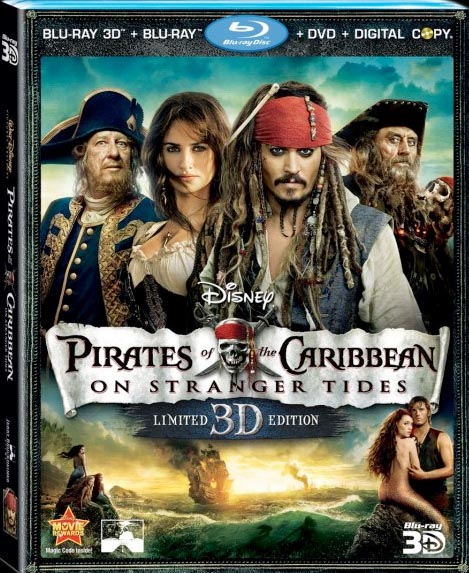 PIRATES OF THE CARIBBEAN: ON STRANGER TIDES 5-disc Blu-ray/3D/DVD Combo Pack