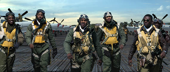 Click to open hi-res first official image from RED TAILS opening January 20, 2012