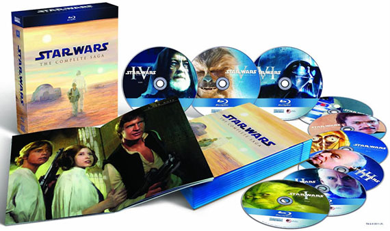 Preview high-res image of STAR WARS Saga Blu-ray disc art and booklet on FilmEdge.net