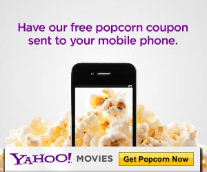 Click the link provided to get your free popcorn coupon from Yahoo Movies