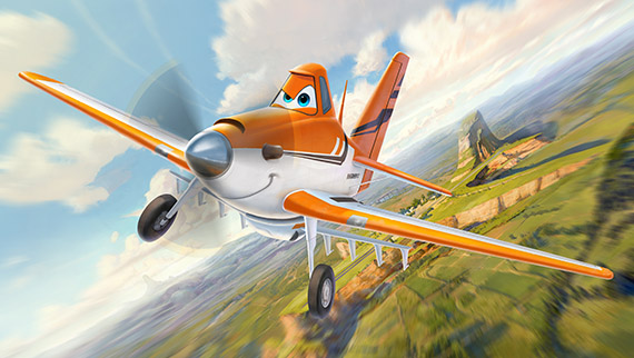 Crop caring Dusty dreams of entering an air race in DisneyToon Studios' PLANES, on Blu-ray and DVD in Spring 2013