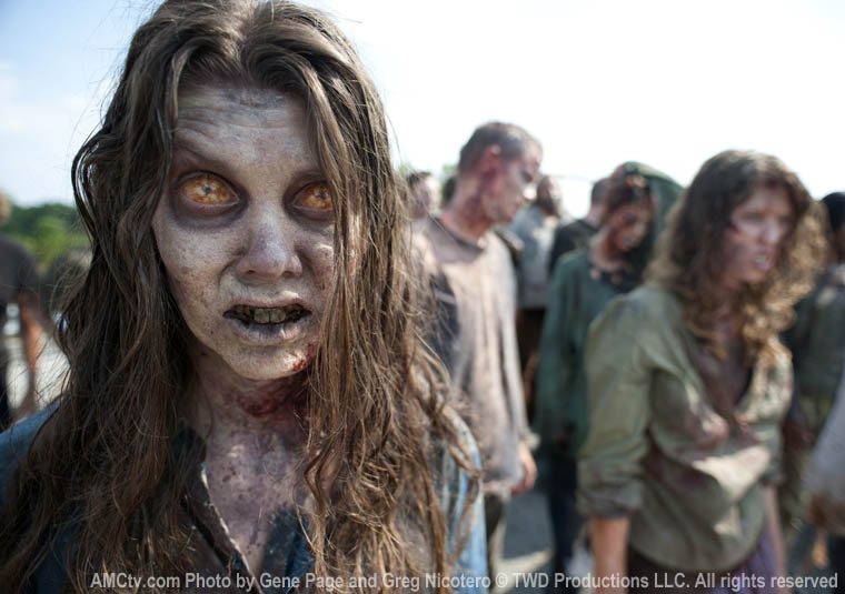 Walkers in Season Two of THE WALKING DEAD, premiering October 16, 2011 on AMC. Photo by Gene Page and Greg Nicotero c. TWD Productions LLC. All rights reserved.