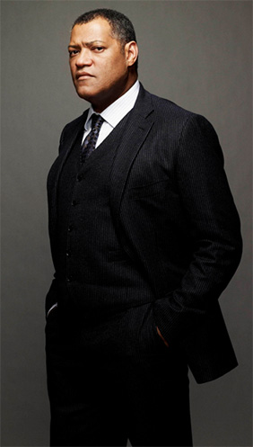 Laurence Fishburne cast as Daily Planet editor Perry White in Zack Snyder's MAN OF STEEL (2013)