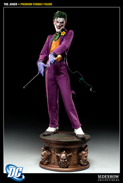 Full view of The Joker Premium Format Figure from Sideshow Collectibles, available for pre-order now