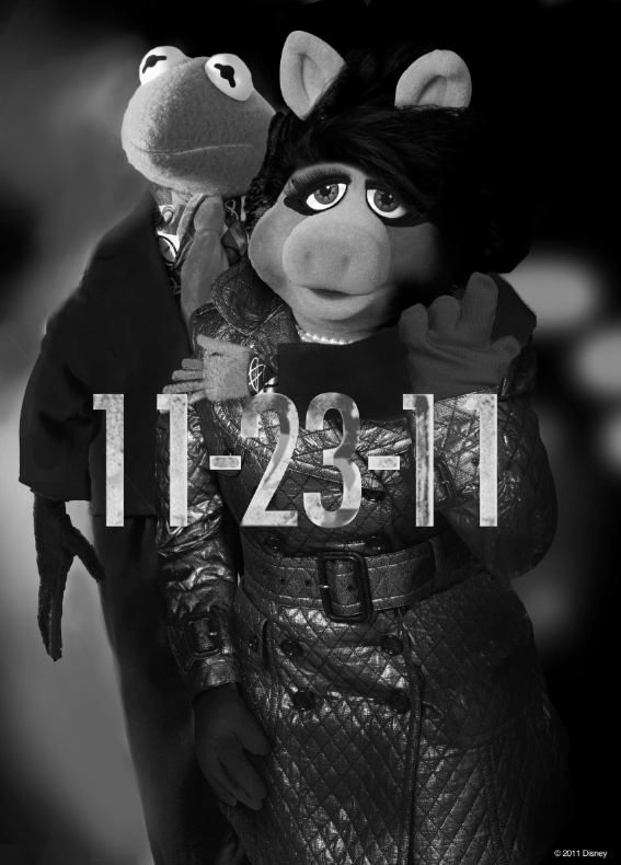 THE MUPPETS poster parody of THE GIRL WITH THE DRAGON TATTOO