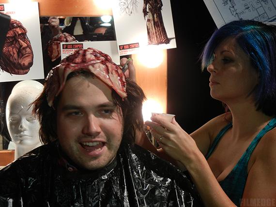 Split scalp makeup appliance from Universal Studios Hollywood Halloween Horror Nights