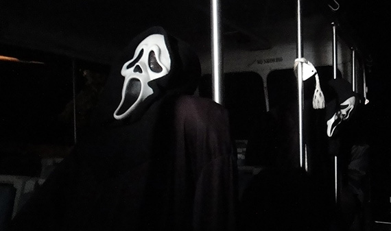 The Ghostface Killer now runs the Terror Tram backlot tour at Halloween Horror Nights 2011