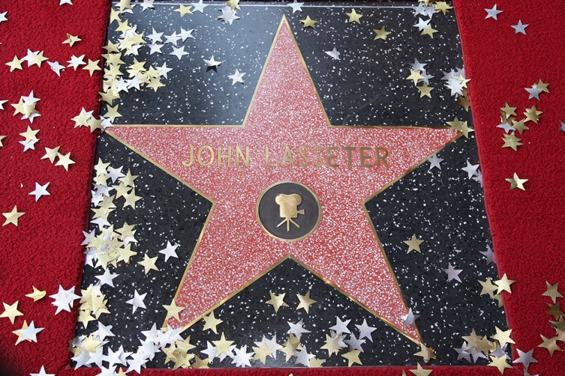 John Lasseter's newly unveiled star at the John Lasseter Star Ceremony in front of the El Capitan Theatre in Hollywood, CA on Tuesday, November 1, 2011. (Alex J. Berliner/ABImages)